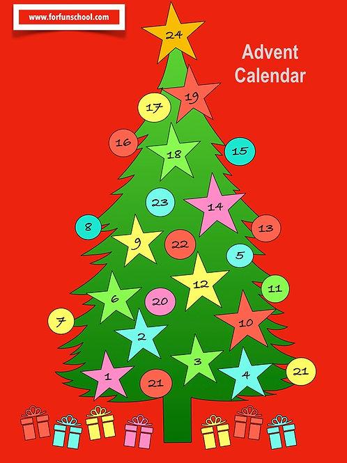 Christmas tree, Advent calendar