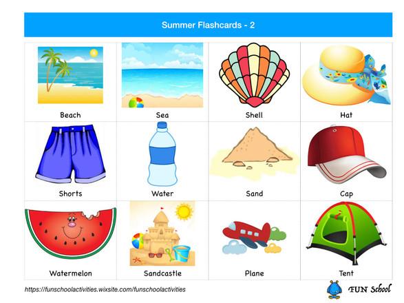Summer Flashcards 2