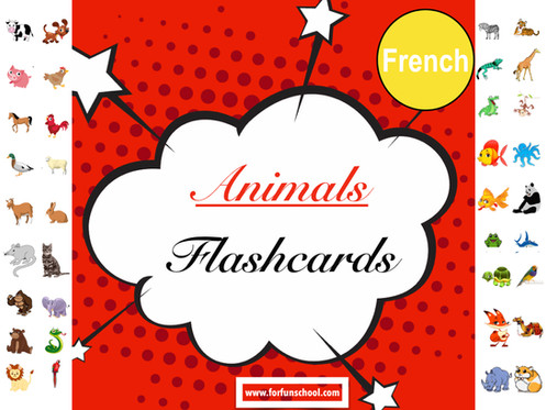 picture relating to Printable French Flashcards identified as French Pets Flashcards