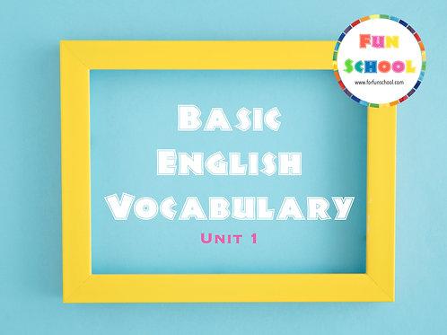 Flashcards Basic English Vocabulary