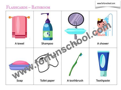 Bathroom Vocabulary Flashcards