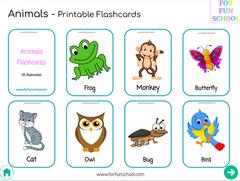 English Animals Flashcards 1