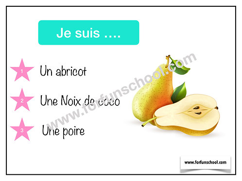 Fruits Quizz (French)