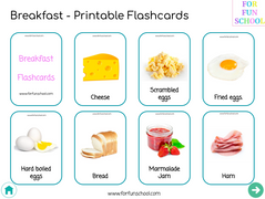 English breakfast Flashcards