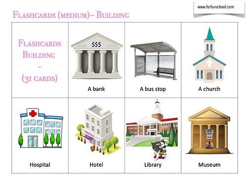 Buildings vocabulary flashcards