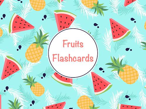 Fruits Flashcards (english)