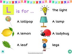 Letter L - English