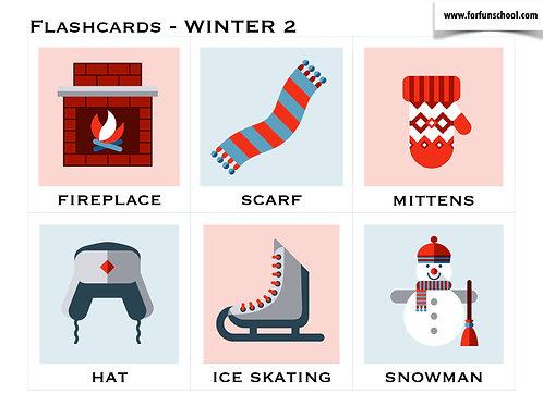 Winter - Flashcards vocabulary