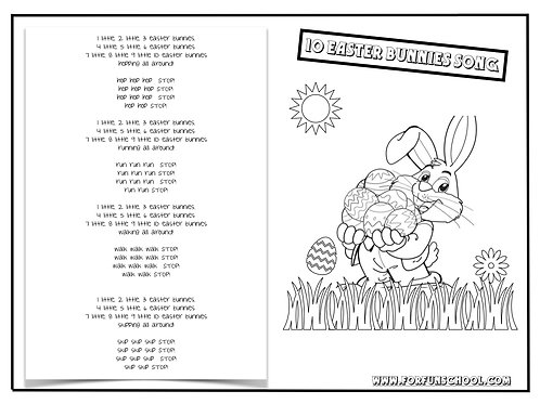 10 EASTER BUNNIES SONG
