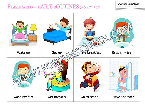 Daily routines flashcards