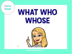 Question words - What / Who / Whose