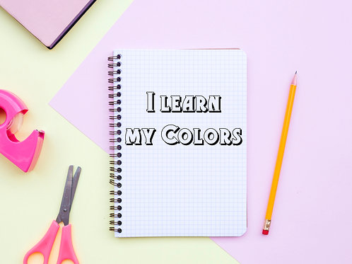 I learn my colors in English