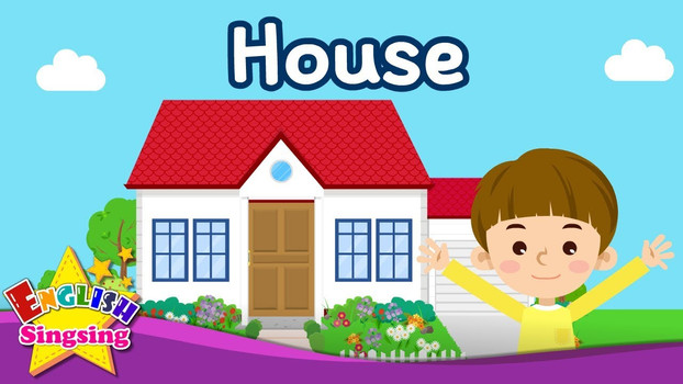 Kids vocabulary - House - Parts of the House - Learn English for kids - English educational video