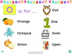 Letter O - English