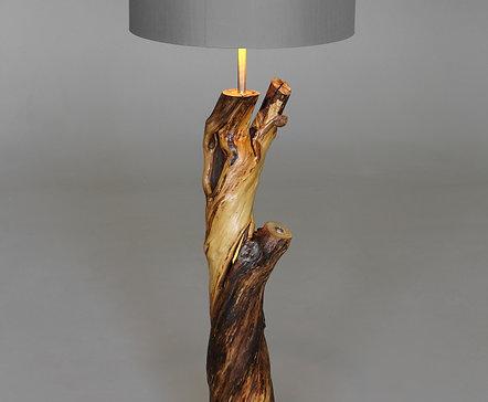 Lilac wooden  floor lamp