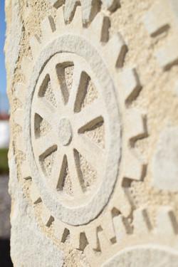 Timekeeper carving