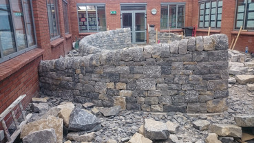 This project designed and delivered by Stone Art (Sunny Wieler) a Waterford based dry stone waller, artist, sculptor, landscaper, writer and gardener was a real pleasure to assist on. Collaborating with other craftspeople on their projects is both an educational and rewarding experience.