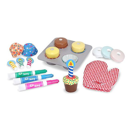 SET DE PASTELITOS PARA DECORAR-WOODEN CUPCAKE SET