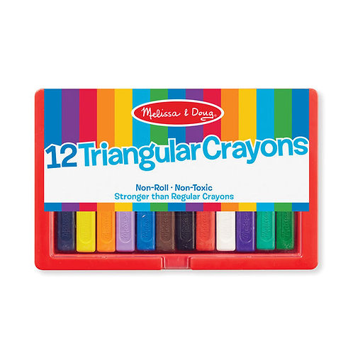 12 CRAYONES TRIANGULARES-12 TRIANGULAR CRAYONS-MELISSA AND DOUG
