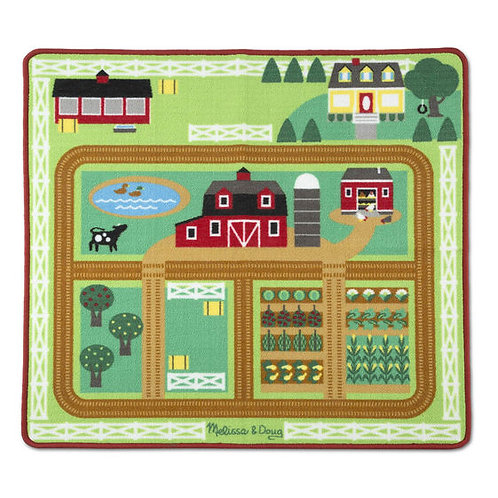 TAPETE EN LA GRANJA-AROUND THE BARNYARD FARM RUG-MELISSA AND DOUG