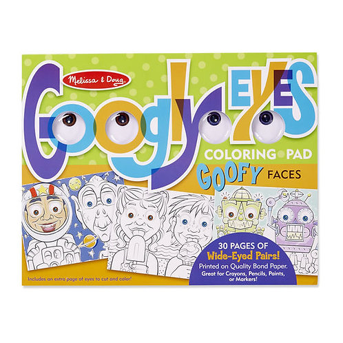 GOOGLY EYES GOOFY FACES LIBRO PARA COLOREAR-MELISSA AND DOUG