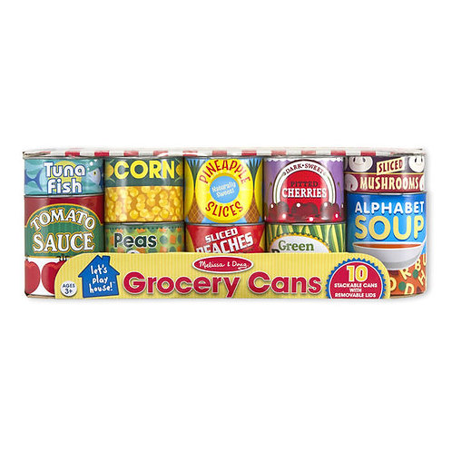 LATAS DE COMIDA DE JUGUETE-CANNED FOOD PLAY SET-MELISSA AND DOUG