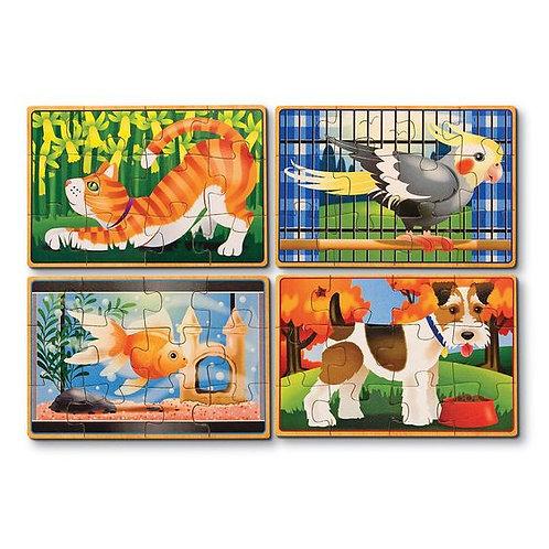 CAJA DE ROMPECABEZAS MASCOTAS 4 EN 1 -PETS PUZZLES IN A BOX-MELISSA AND DOUG