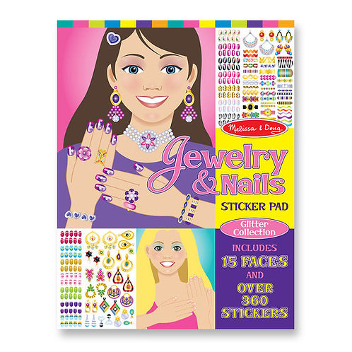 JOYAS Y UNAS LIBRO GIGANTE DE STICKERS REUSABLES-MELISSA AND DOUG