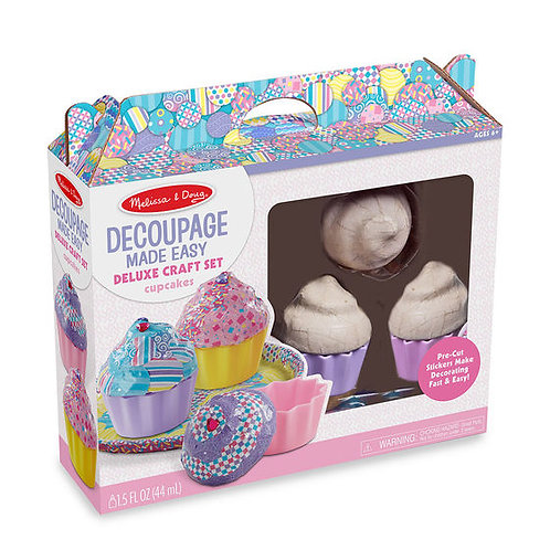 PASTELITOS KIT DE MANUALIDAD-DECOUPAGE MADE EASY CUPCAKES-MELISSA AND DOUG
