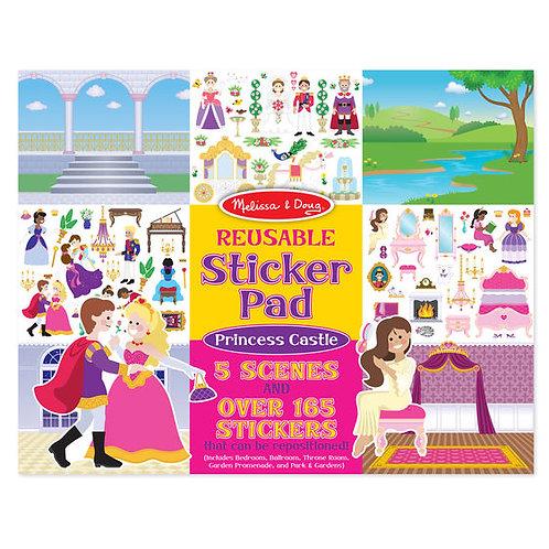 PRINCESAS LIBRO STICKERS REUSABLES-PRINCESS CASTLE STICKERS PAD