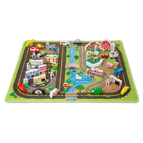 TAPETE DE LUJO LA CIUDAD-DELUXE ROAD RUG PLAY SET-MELISSA AND DOUG