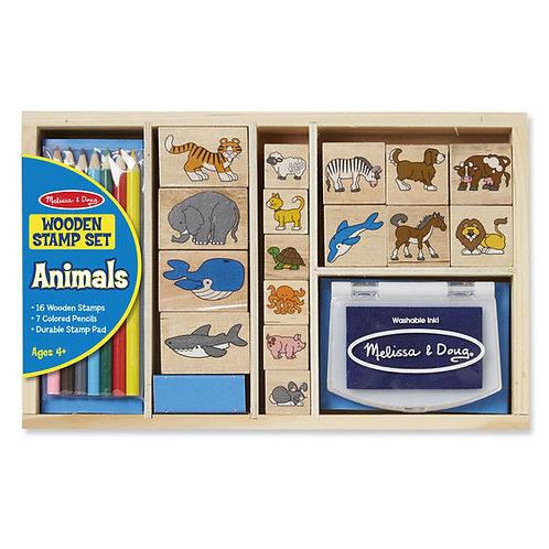 SET DE SELLOS ANIMALES-ANIMAL STAMP SET-MELISSA AND DOUG
