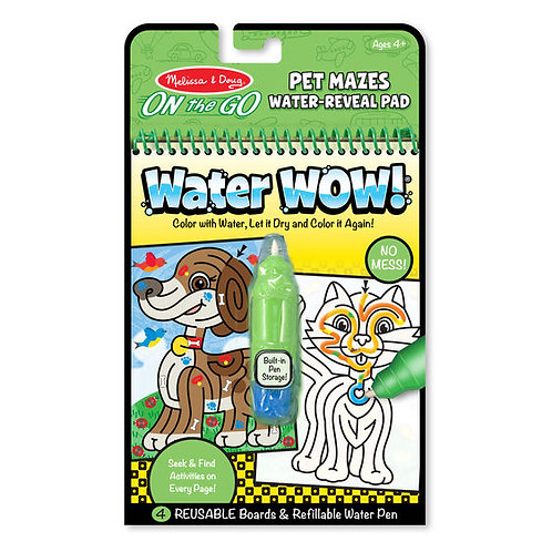 LABERINTOS DE MASCOTAS WATER WOW-PET MAZES WATER WOW-M & D