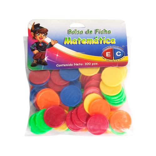 FICHA MATEMATICA BOLSA 100Pz