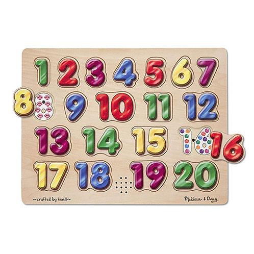 ROMPECABEZAS CON SONIDO NUMEROS EN ESPANOL-SPANISH NUMBERS SOUND PUZZLE
