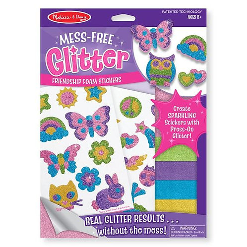 STICKERS DE LA AMISTAD-MESS FREE GLITTER FRIENDSHIP FOAM STICKERS-MELISSA AND DO