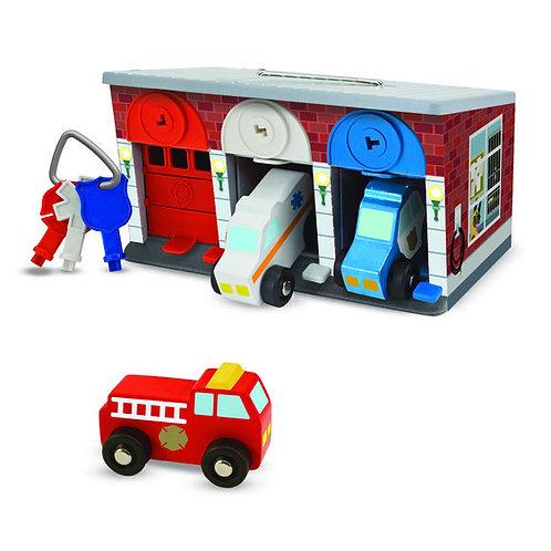 GARAGE  LLAVES Y VEHICULOS DE RESCATE-KEYS AND CARS RESCUE GARAGE-M & D
