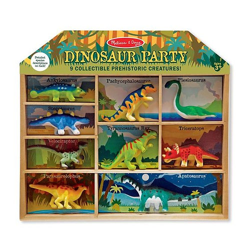 FIESTA DE DINOSAURIOS-DINOSAUR PARTY PLAY SET-MELISSA AND DOUG