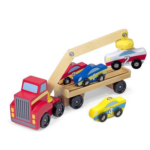 CAMION REMOLCADOR DE AUTOS-MAGNETIC CAR LOADER-MELISSA AND DOUG