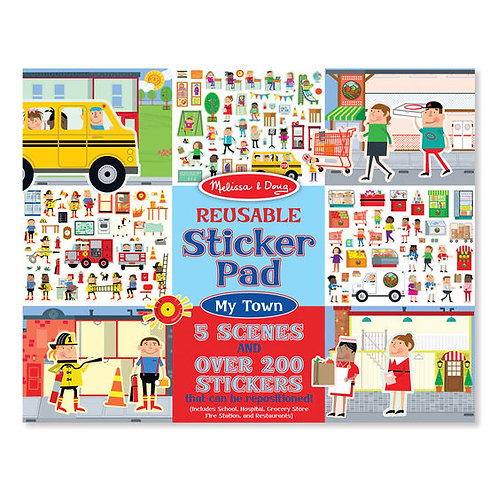 LIBRO DE STICKER REUSABLES-MI CIUDAD-MELISSA AND DOUG