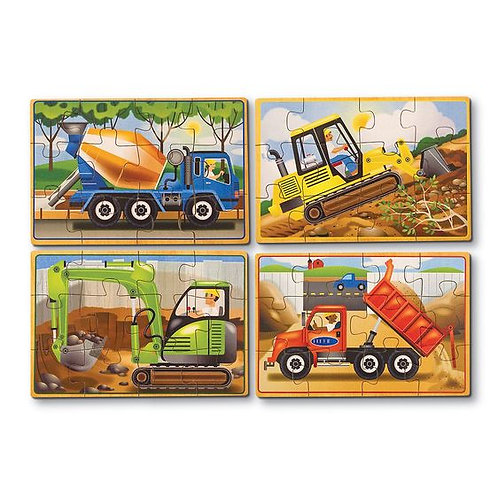 CAJA DE ROMPECABEZAS CONSTRUCCION-CONSTRUCTION PUZZLES IN A BOX-MELISSA AND DOUG