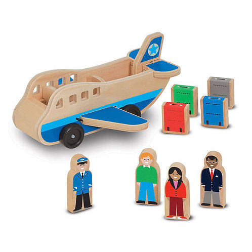 AVION DE MADERA-WOODEN AIRPLANE-MELISSA AND DOUG