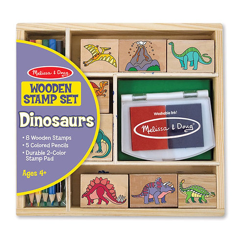 SET DE SELLOS DINOSAURIOS-MELISSA AND DOUG