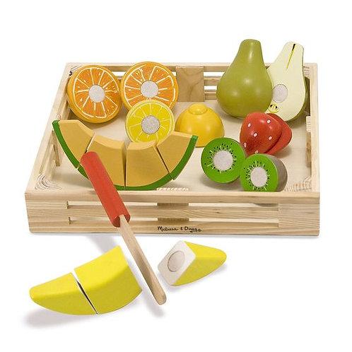 SET FRUTA DE MADERA PARA CORTAR-WOODEN CUTTING FRUIT