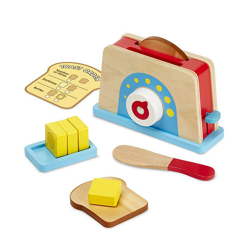 SET TOSTADOR,PAN TOSTADO Y MANTEQUILLA-BREAD AND BUTTER TOASTER SET-MELISSA AND