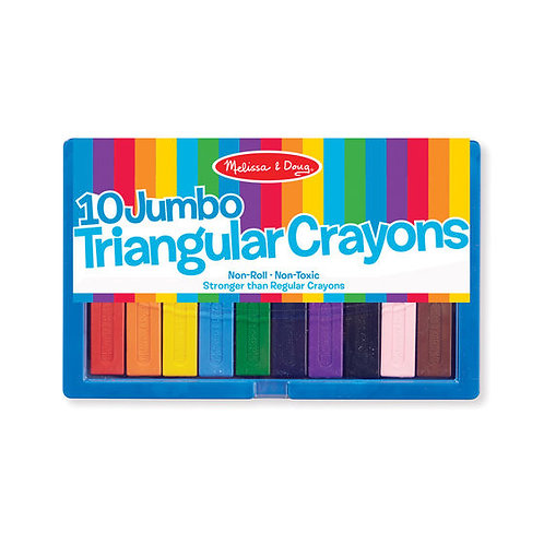 10 CRAYONES TRIANGULARES JUMBO-10 JUMBO TRIANGULAR CRAYONS-MELISSA AND DOUG