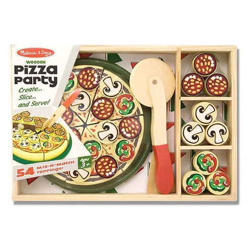 PIZZA DE JUGUETE (MADERA)-PIZZA PARTY-WOODEN PIZZA