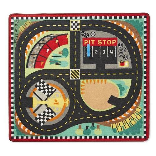 TAPETE PISTA DE CARRERAS Y SET DE CARROS-SPEEDWAY RACE RUG AND CAR SET-MELISSA A