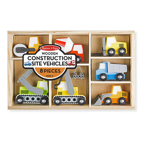 SET VEHICULOS DE CONSTRUCCION-CONSTRUCCION SITE VEHICLES-MELISSA AND DOUG
