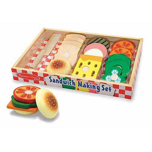 SET PARA SANDWICH DE MADERA-WOODEN SANDWICH MAKING SET-MELISSAAND DOUG